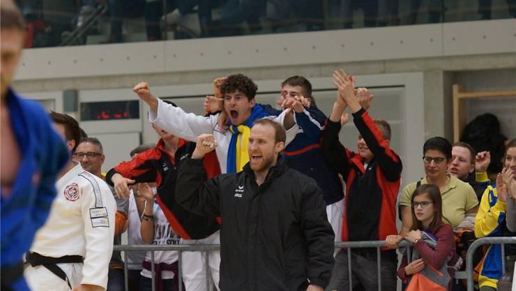 Martin Nietlispach, Coach der Brugger Judoka, am Finalkampf des letztjährigen Final-Four-Turniers in der heimischen Mülimatt-Halle. AZ ARCHIV/RUBU