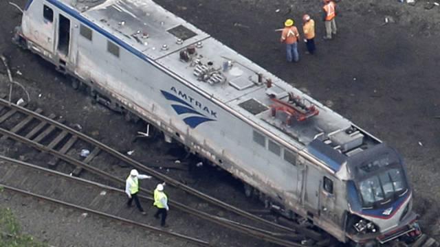 Lokomotive des am 13. Mai verunglückten Amtrak-Zuges
