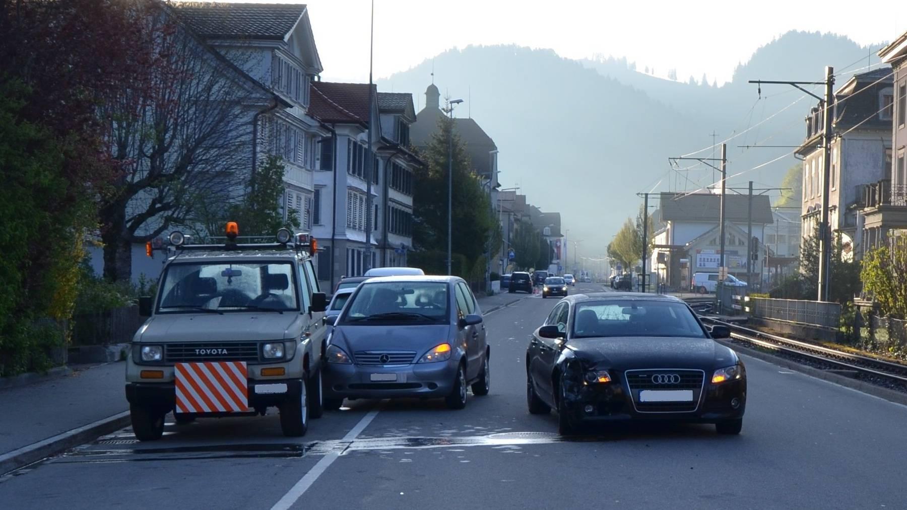 In Bühler kam es zu einer Kollision zwischen zwei Autos.