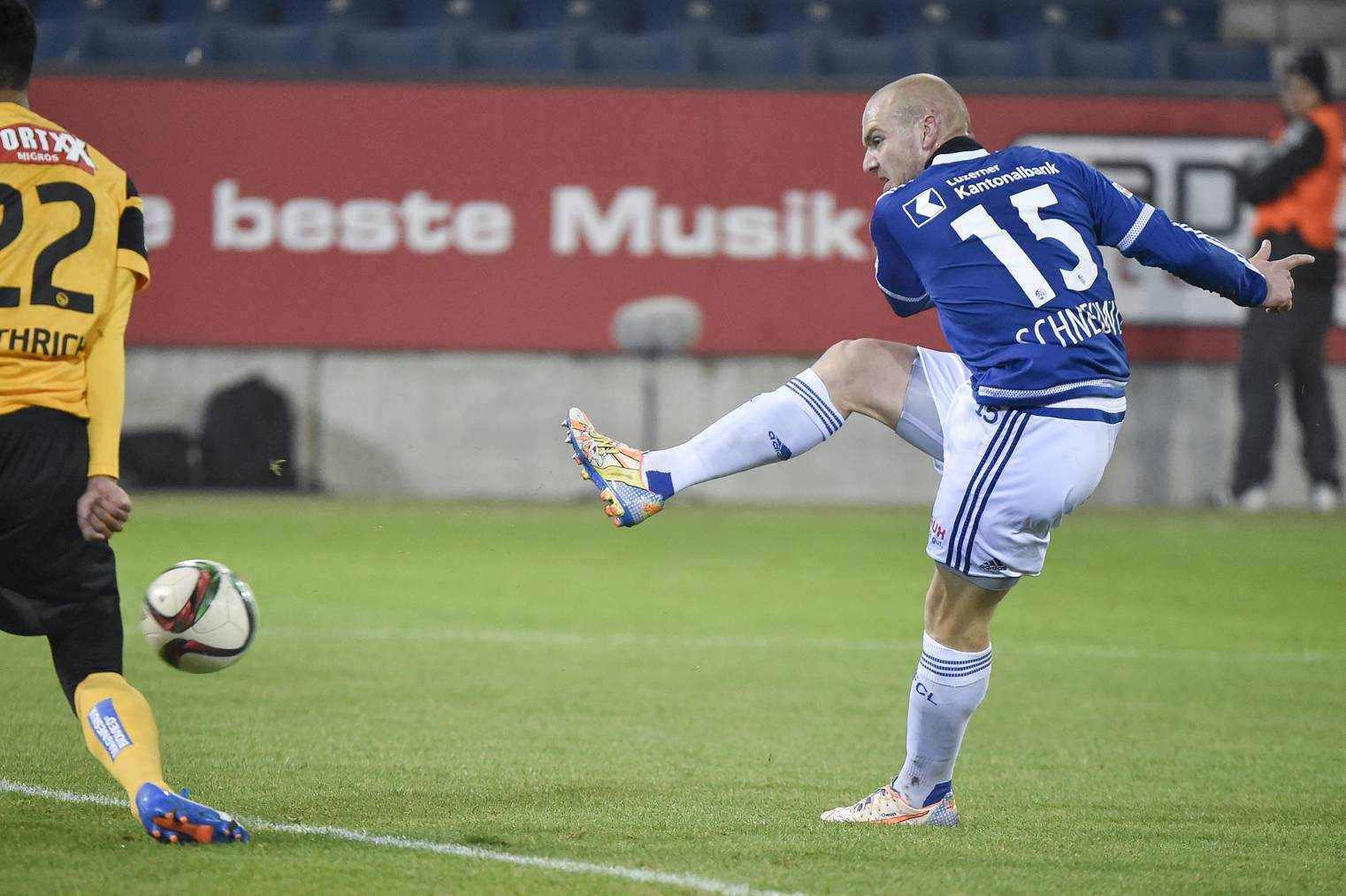Marco Schneuwly erzielte in der 16. Minute das 1:0. Es ist sein sechstes Tor in dieser Saison