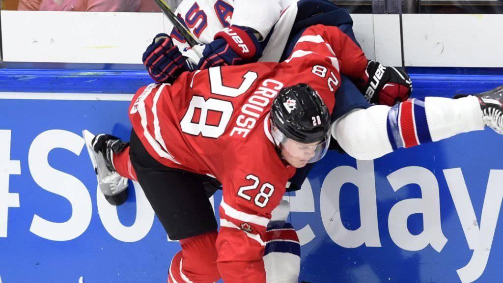 Harter U20-Fight zwischen Amerikanern und Kanadiern