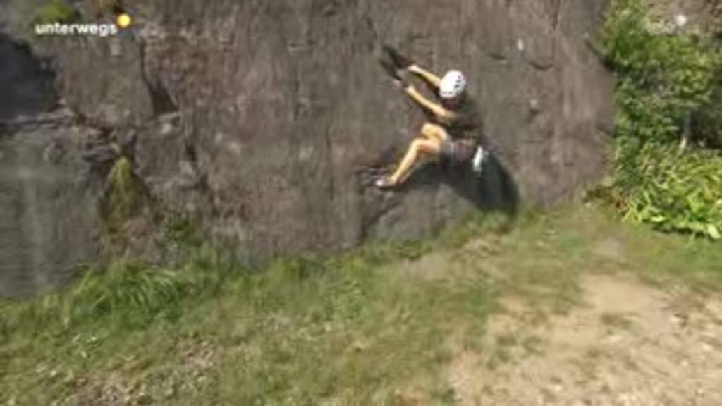 «Unterwegs» beim Klettern