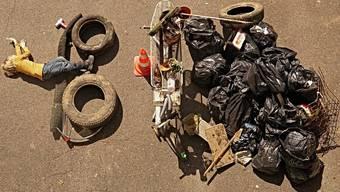 Das Müll-Bild des Quartiervereins Rombachtäli.