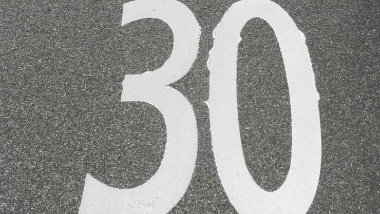 Einwohner setzen sich für Tempo 30 auf den Quartierstrassen ein.