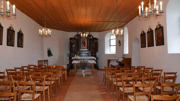Die schmucke Kapelle St. Stephan in Neuendorf erstrahlt wieder in alter Frische.