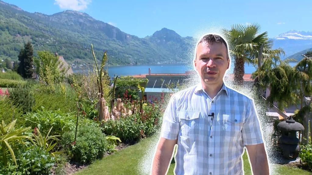 Mehr Garten als Wohnung: Philipp zeigt sein Zuhause am Vierwaldstättersee
