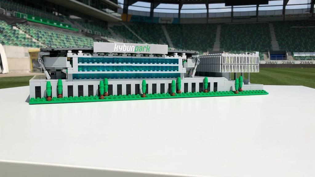 Kybunpark im Mini-Format: Schüler baut Stadion aus Lego nach
