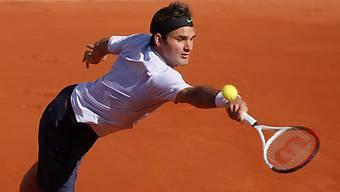 Roger Federer musste sich vor allem im 1. Satz mächtig strecken.
