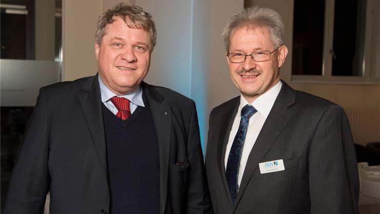 Die Präsidenten der AIHK, Daniel Knecht, und des AGV, Kurt Schmid.