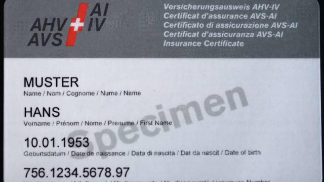 AHV-Versichertennummer soll zur Identifizierung dienen (Symbolbild)