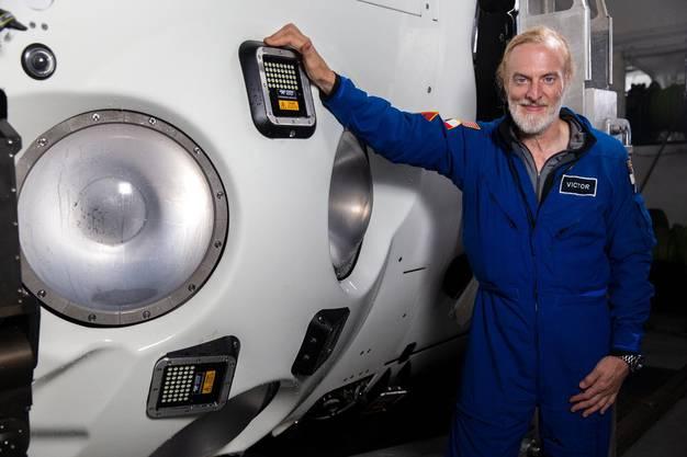 Der 53-jährige amerikanische Abenteurer erreichte an Bord des Tauchboots eine Tiefe von 10'928 Metern 0 neuer Rekord.