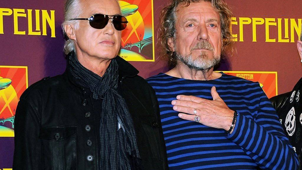 Led Zeppelin-Gitarrist Jimmy Page (links) und Sänger Robert Plant. (Archivbild)