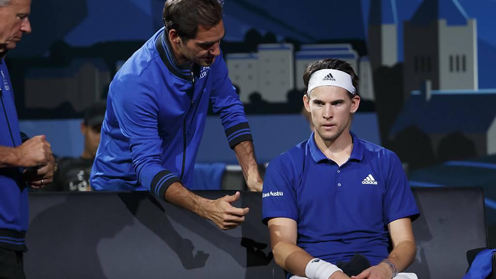 Wiederholung in Boston: Wie 2019 in Genf werden Captain Björn Borg, Roger Federer und Dominic Thiem am Laver Cup im Team Europa dabei sein