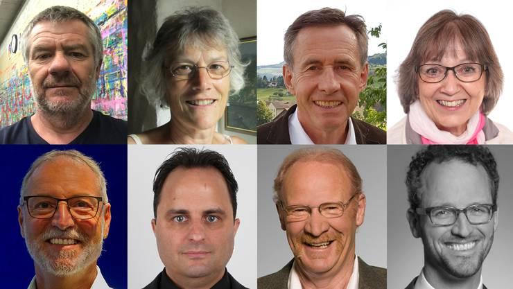 Acht Kandidatinnen und Kandidaten stellen sich für ein Amt im Gemeinderat Villnachern zur Verfügung.