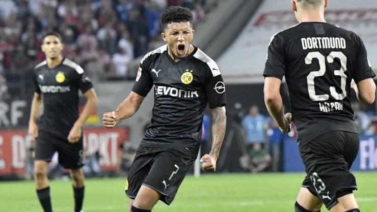 BVB-Youngster Jadon Sancho steht mit seinem Weitschuss am Anfang der Dortmunder Wende