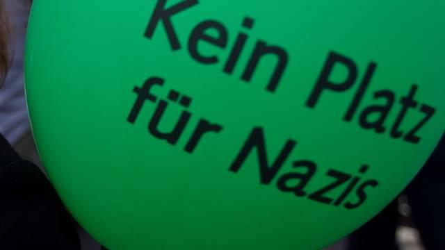 Linke und Grüne demonstrieren in Diepoldsau SG gegen das rechtsextreme Europa-Fest (Symbolbild)