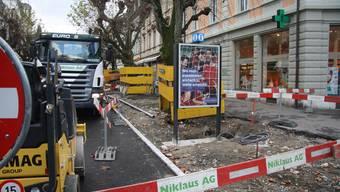 Bauarbeiten Vorstadt Solothurn