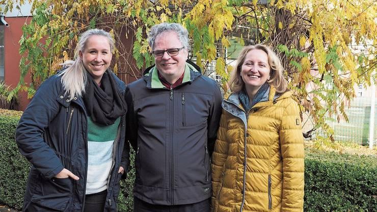 Sind gewappnet für die Zukunft: Ronja Steiger, Andre Rotzetter und Jeannette Zumsteg vom Verein für Altersbetreuung im oberen Fricktal. Bild: Thomas Wehrli