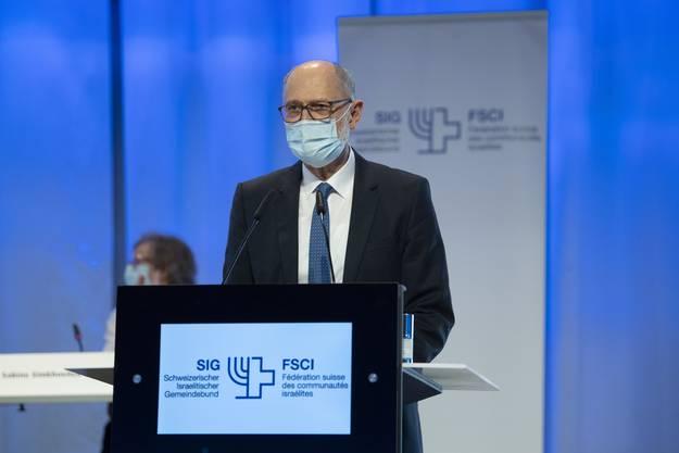 Ralph Lewin an der SIG-Delegiertenversammlung am Sonntag in Bern.