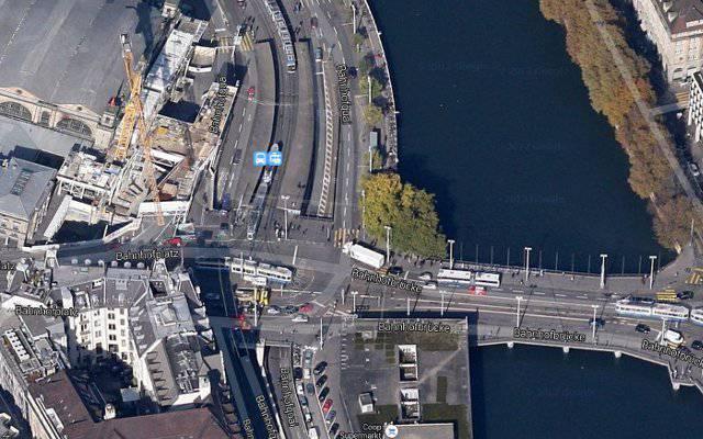 Bei der Unterführung zwischen dem Bahnhofplatz und der Rudolf-Brun-Brücke kam es zum Unfall