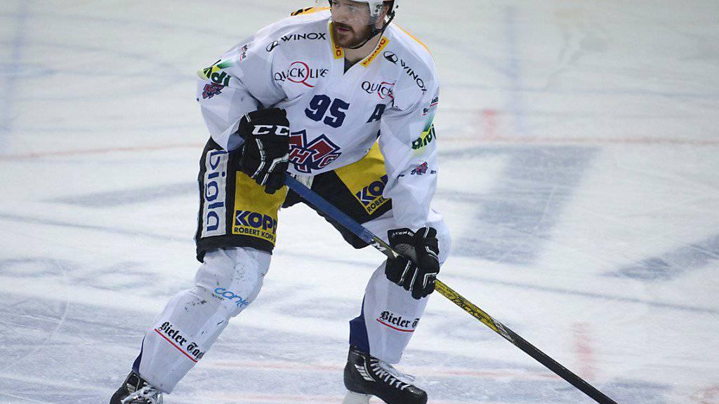 Thomas Wellinger wechselt nach dieser Saison vom EHC Biel zum HC Lugano