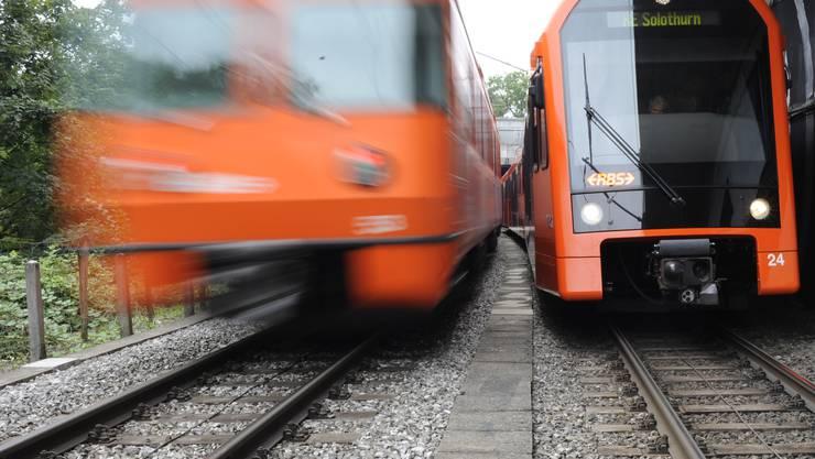 Auch zwischen Zollikofen und Moosseedorf soll der Regionalverkehr doppelspuri ausgebaut werden. Dazu erfolgte am Dienstag der Spatenstich.