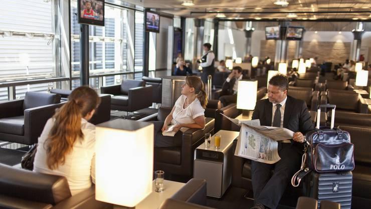 Die Swiss Lounge am Flughafen Kloten