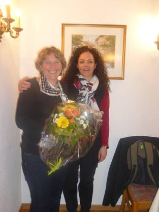 Brigitte Holliger gab das Amt als Aktuarin ab. Neu gewählt wurde Christina Lindenmann.
