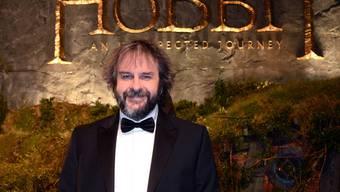 """Regisseur Peter Jackson an der Premiere seines """"Hobbits"""" in London"""