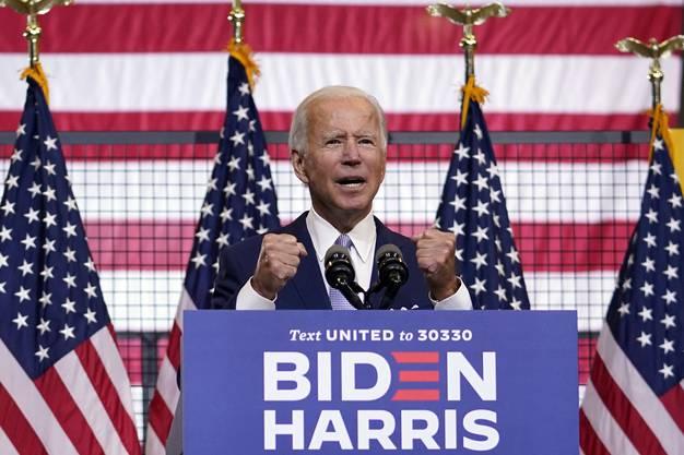 Joe Biden bei seinem Auftritt am Montagabend in Pittsburgh.