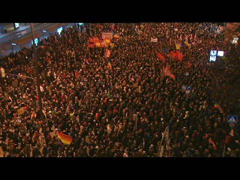 Montags-Demo am 12. 1. 2015: Erneut höhere Beteiligung bei Dresdner «Pegida»-Kundgebung