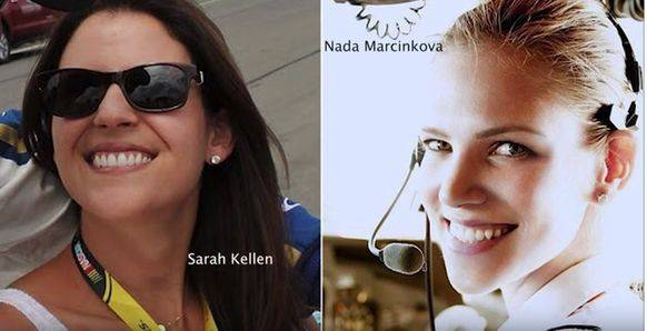 Haben die Mädchen instruiert: Sarah Kellen (links) und Nada Marcinkova.