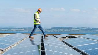 Die Zukunft der Elektrizität ist dezentral, sind Vertreter der Energiebranche überzeugt. Hier ein Dach voller Solarpanels.