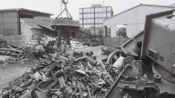 1981 war der Schrottplatz der Otto Kofmehl AG noch in Betrieb