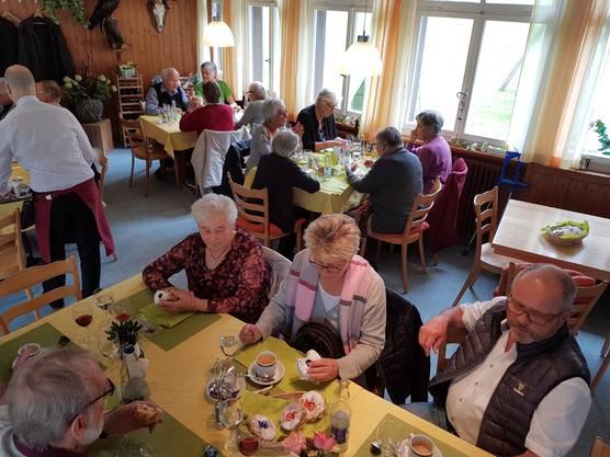 Mittagshalt im Restaunrant Vorauen am Klöntalersee