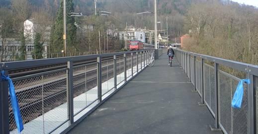 Zwischen Baden und Wettingen: Velo- und Fussweg über die Limmat ist eröffnet worden.
