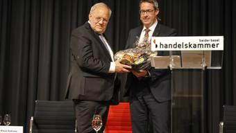 Johann Schneider-Ammann in Liestal am HKBB Podium