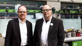 Gemeinsam gegen die Erbschaftssteuerinitiative: Dieter Weber, Rechtsanwalt und Steuerberater (links), und Tobias Maurer, Geschäftsleiter Maurer AG.