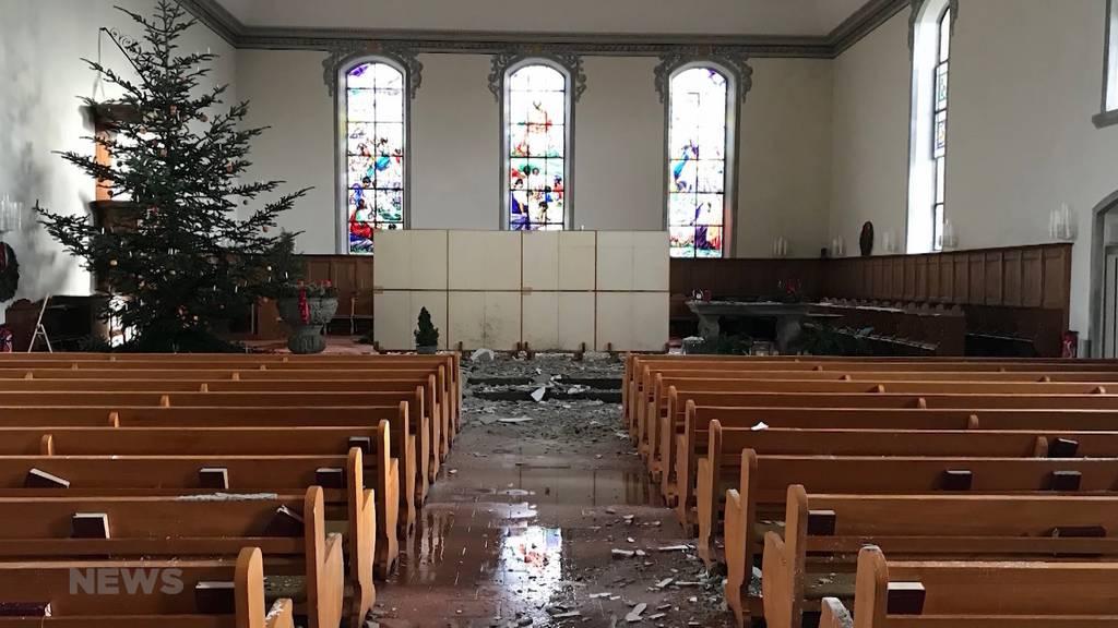 Glück im Unglück: Erste Bilder aus dem Kirchenschiff Herzogenbuchsee
