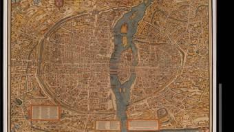 Der älteste gedruckte Stadtplan von Paris liegt in der Basler Unibibliothek. Das Digitalisat ist nun frei verfügbar.