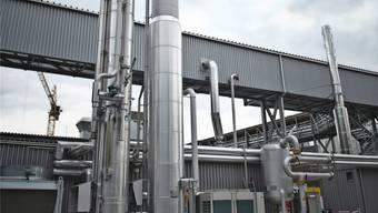 Die Biogas-Aufbereitungsanlage geht nach der Reparatur wieder in Betrieb.