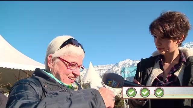 Quizzenswert auf dem Glatteis in Interlaken