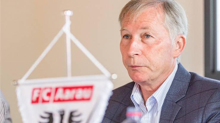 FC-Aarau-Präsident Alfred Schmid tritt nach der Saison ab.