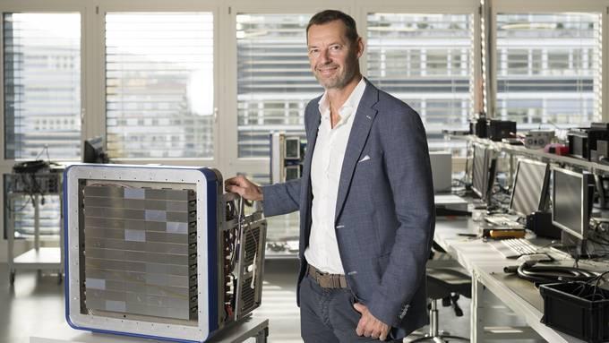 Christian Brönnimann, Geschäftsführer und Gründer der Firma Dectris: Mit einem solchen Detektor wurde die Proteinstruktur des Virus entschlüsselt.