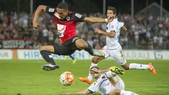 Marvin Spielmann und der FC Aarau wollen im Pokal auch die nächste Hürde überspringen.
