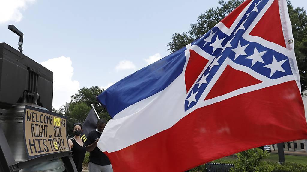 Streit um Symbol: Der US-Gliedstaat Mississippi will die umstrittene Flagge abschaffen.