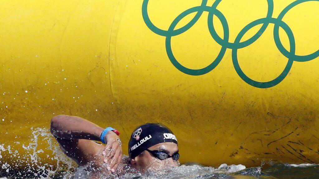 Der 37-jährige Tunesier Oussama Mellouli, hier unterwegs im 10-km-Wettkampf in Rio de Janeiro, startet in Tokio zu seinen sechsten Olympischen Spielen