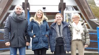 V. l.: Lindenhaus-Präsident Matthias Meier-Moreno, Mitarbeiterin Julia Flückiger, die neue Leiterin Tamara Moser und Corinne Maier (Personalverantwortliche).