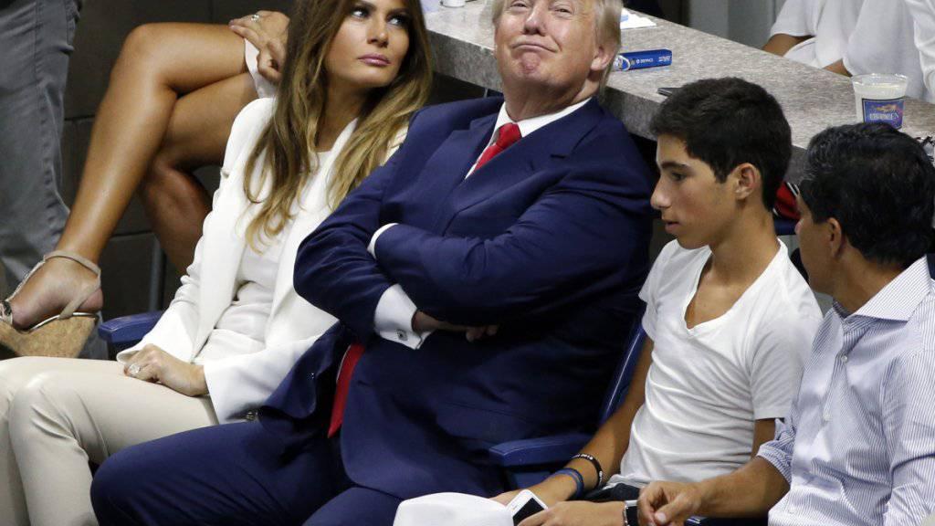 Donald Trump, hier an einem Tennismatch in New York, duldet keine kritischen Töne im US-Profisport