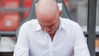 Zeit bei GC abgelaufen: Trainer Carlos Bernegger